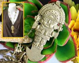 Tumi Pendant Necklace Peruvian Incan Andean Sun God Tribal Peru Llama - $38.95