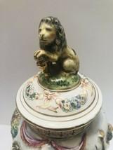 R. Capodimonte Urn Vase High Detail Mythical Nudes Figural Lion Lid 15-i... - $296.01