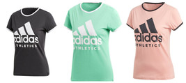 adidas Women's Tee Shirt Sport ID Slim Fit T-Shirt Athletic Crew Short Sleeve