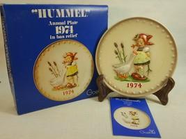 M.J. Hummel Annual Plate 1974 In Bas Relief  In original box FD489 - $14.95