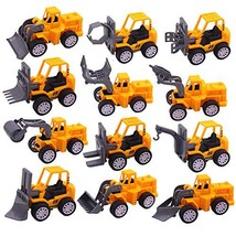 3 otters Mini Engineering Car Toys, 12PCS Construction Trucks Toys Mini Construc