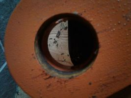 9735190 | Hitachi Ex100/Ex120 Bucket Link L/H (w/ bolt hole), New dirty see pics image 5