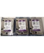 3 Western Digital WD 2TB Purple Hard Drive WD20PURX SATA 6Gb/s Surveilla... - $98.95