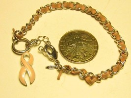 Avon Cancer Awareness Charm Bracelet - $4.95