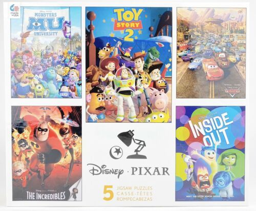 The Incredibles Toy Story 2 New Disney Pixar CEACO 5 Jigsaw Puzzle Set Cars