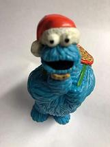 "Applause Vintage 3"" Christmas Cookie Monster PVC Figure with Santa Hat and Bag o - $15.99"