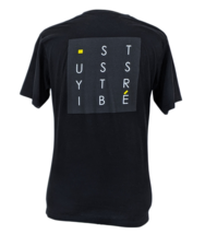 Stussy Tribe Men's M Spell Out Back Graphic Tee Black S/S T-Shirt Size M... - $24.95