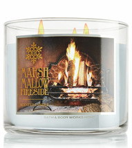 Bath & Body Works Marshmallow Fireside Three Wick 14.5 Ounces Scented Ca... - $22.49