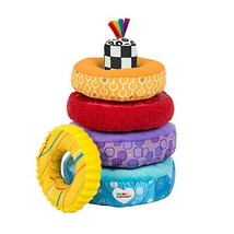 LAMAZE - Rainbow Stacking Rings Toy, Help Baby Develop Fine Motor Skills... - $29.57