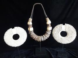 Atlantis Goddess meditation shell portals Conus Shell Necklace set of 3 necklace - $386.39