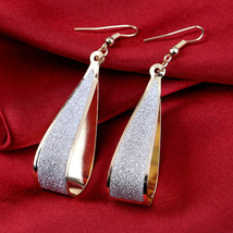 Bridal Earrings Gold Color Wedding Accessories Water Long Women - $7.99