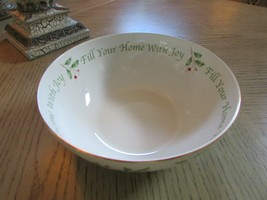 LENOX AMERICAN BY DESIGN HOLIDAY FILL YOUR HOME WITH JOY SERVING BOWL ME... - $18.76