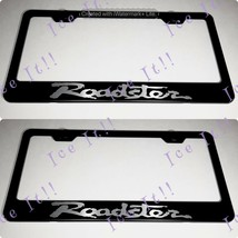 2X Mazda Roadster MX 5 Stainless Steel Black License Plate Frame Rust Free - $23.75