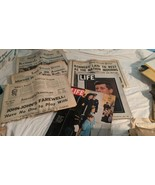 Lot of John Kennedy Newspaper Articles of Assassination & Mourning and h... - $28.71