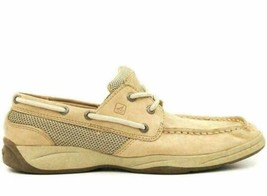 Sperry Top Sider Girls Boat Shoes Intrepid Size US 5M Beige Leather - $20.20