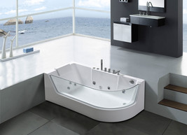 "Whirlpool bathtub hydrotherapy Hot tub 1 person 59"" Panoramic Glass - Ve... - $2,199.00"