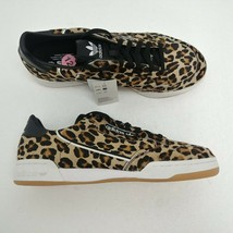 Adidas Continental 80 Leopard Print Shoes Black White F33994 Mens Size 1... - $79.43
