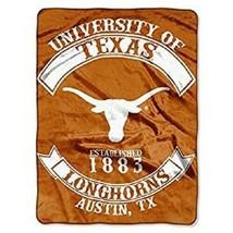 """Texas Longhorns 60"""" by 80"""" Twin Size Raschel Blanket - NCAA - $33.94"""
