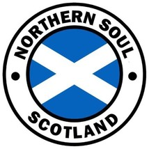 Northern Soul composite laminated circular wall plaque 25cm ska mod Scot... - €28,20 EUR