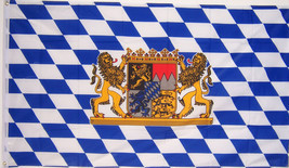 NEW 3x5 BAVARIA LION OKTOBERFEST BAVARIAN GERMAN BEER FLAG - $7.39