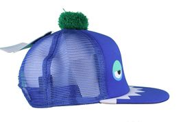 Neff Men's Blue Monster Snapback Baseball Pom Hat Cap NWT image 3