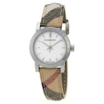 New Authentic Swiss Made Burberry Haymarket Check Leather Strap Watch BU9222 - $235.62