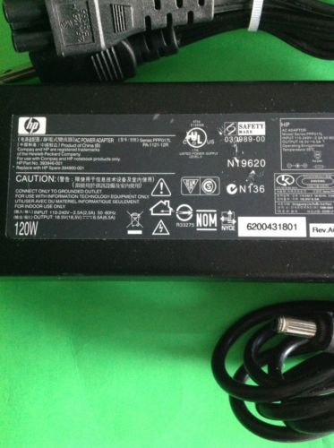 Genuine Original  HP  393946-001 PA-1121-12R Laptop AC Adapter 120W 18.5v