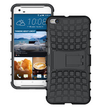 Duty Dual Layer Hybrid Shockproof Protective Cover Case for HTC One X9 - Black  - $4.99