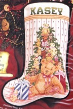 Janlynn Teddy Tree Christmas Bears GIfts Cross Stitch Stocking Kit 08-115 - $156.95
