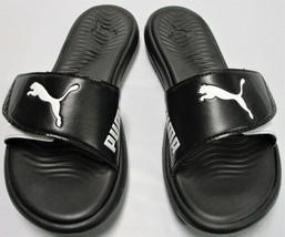 9da20eaf9d67 PUMA Womens  39  Adjustable Strap Surfcat Slide Sandals - Size 6 - Black
