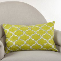 Fennco Styles Stitched Lattice Design Throw Pillow, 3 Colors (Rectangula... - $46.52