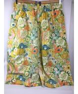"""VTG 44"""" Flower Power Window Curtains Green Mid Century Mod Hippie Floral... - $29.29"""