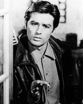 Alain Delon 16x20 Poster classic with cigarette and leather jacket - $19.99
