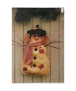 Sherman the Snowman Wall Hanging 23x22 inch Pattern Winter Talented Frie... - $4.99