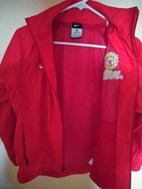 Red Manchester United Soccer School NIKE Windbreaker Jacket Size Youth L... - $27.05