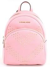 Michael Kors Abbey Medium Backpack Bag Pale Pink Chevron Studded Leather - $460.40