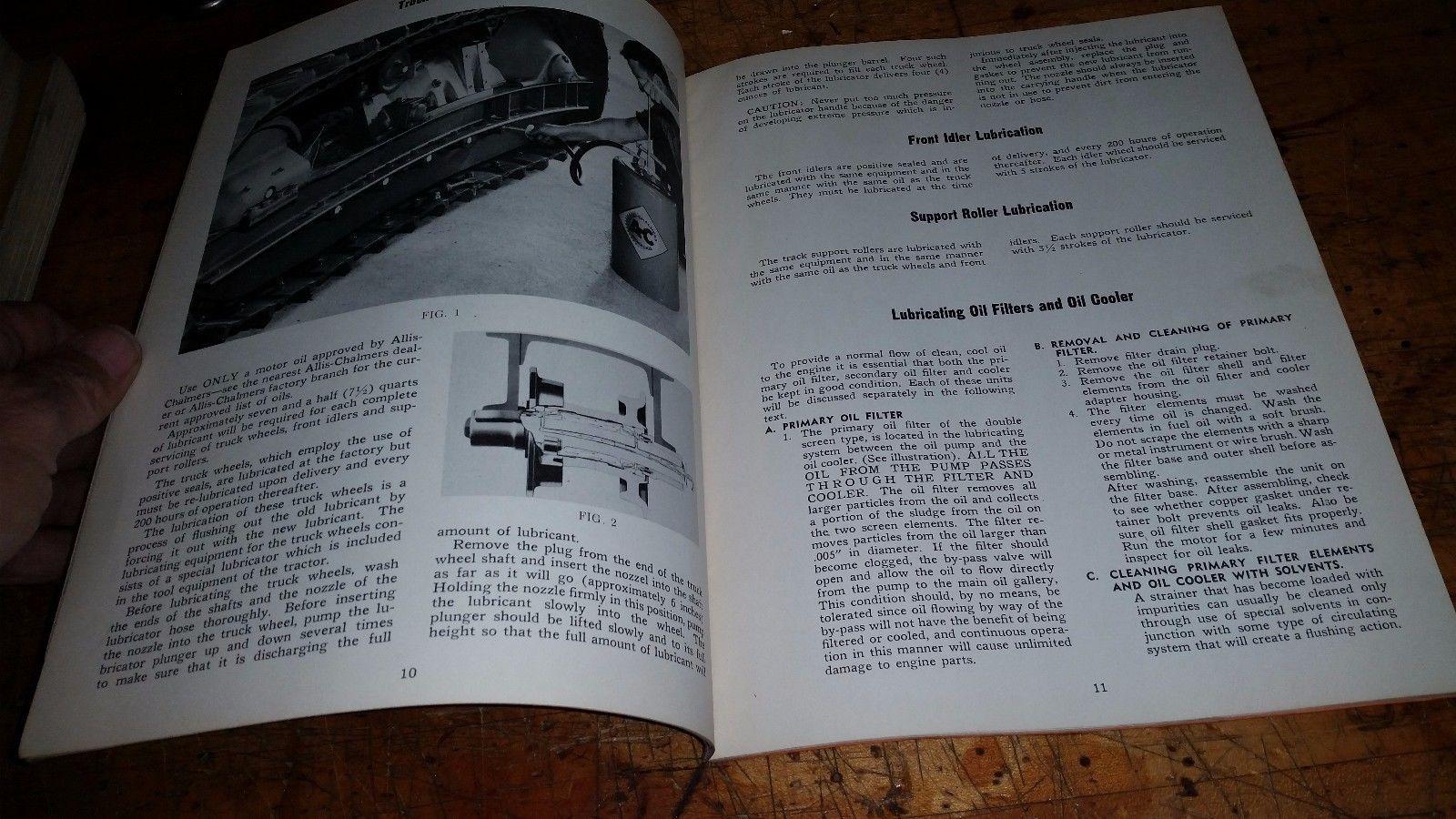 Original Allis-Chalmers HD 7 Crawler Tractor repair Parts List Manual t-203c