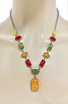 Resin Simulated Fake Amber Necklace Earrings Set, Ethnic, Casual - $13.78