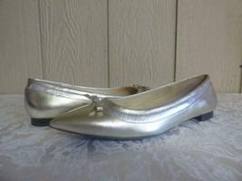Lauren Ralph Lauren Women's Sally Flats  Metallic leathe, Platino color,... - $29.35