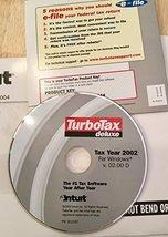 TurboTax Deluxe 2002 - $50.36