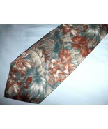 MALLORY & CHURCH LONDON Necktie Silk Men's Tie Earth Tone Floral Short 5... - $11.57