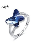Cdyle Embellished with crystals from Swarovski Women Rings Finger Ring F... - $30.62