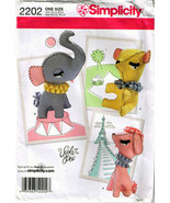 2011 SOFT TOYS: French Poodle, Elephant & Bear Pattern 2202-s - UNCUT - $12.99