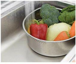 Characin Stainless Steel Dishpan Basin Dish Washing Bowl Portable Tub (D Shape) image 7