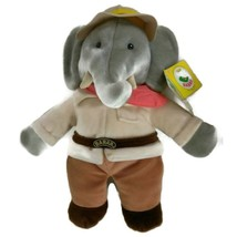 "Gund Barbar Plush Elephant Stuffed Animal 17"" X 15"" - $13.97"
