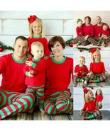 SHIP FROM US Kids Adults Sleepwear Family Matching Christmas Pajamas Set... - $40.99