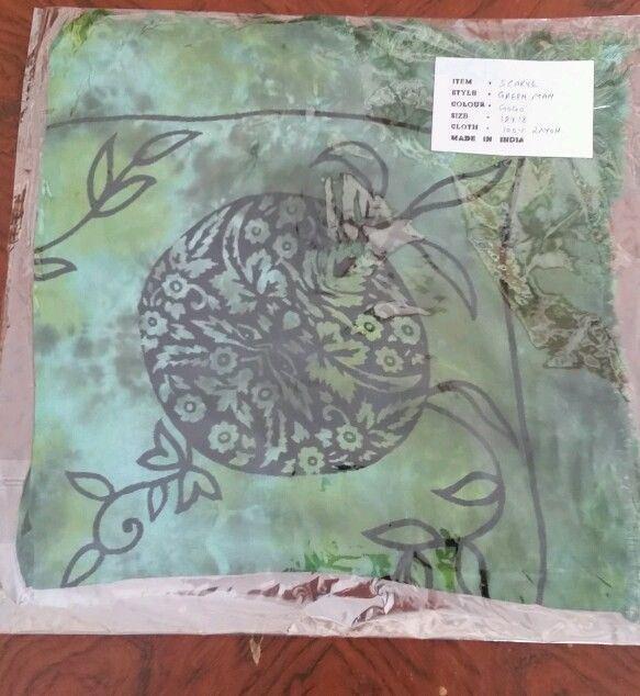 Altar Cloth GREEN MAN 18 x 18  Green Go Go Black