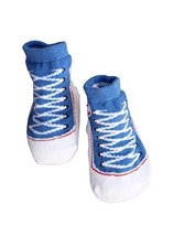 Toddler Non-Slip Infant Socks/Baby Stockings/Newborn Infant Shoes Blue