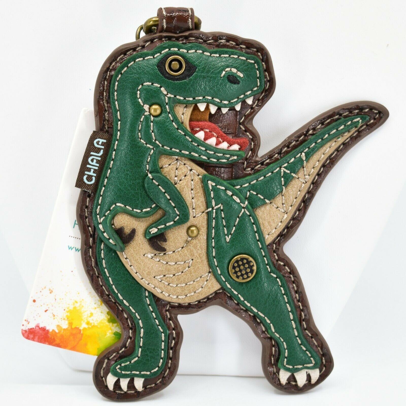 Chala Handbags Faux Leather Tyrannosaurus Rex T-Rex Dinosaur Coin Purse Keychain