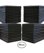 """48 Pack Acoustic Wedge Soundproofing Foam Wall Tiles 12"""" X 12"""" X 1"""" - US... - $51.89"""